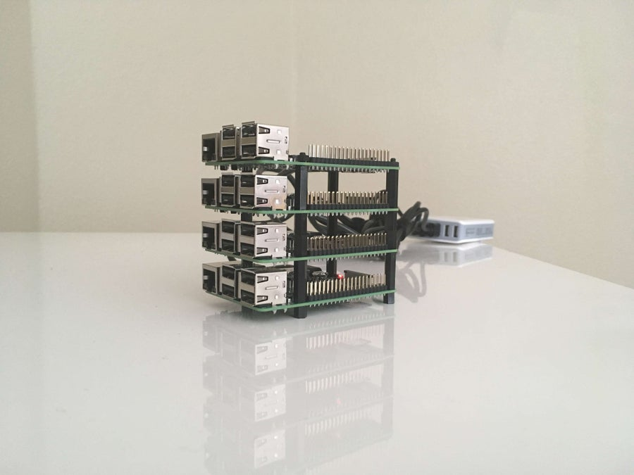 Raspberry Pi vertical computing cluster