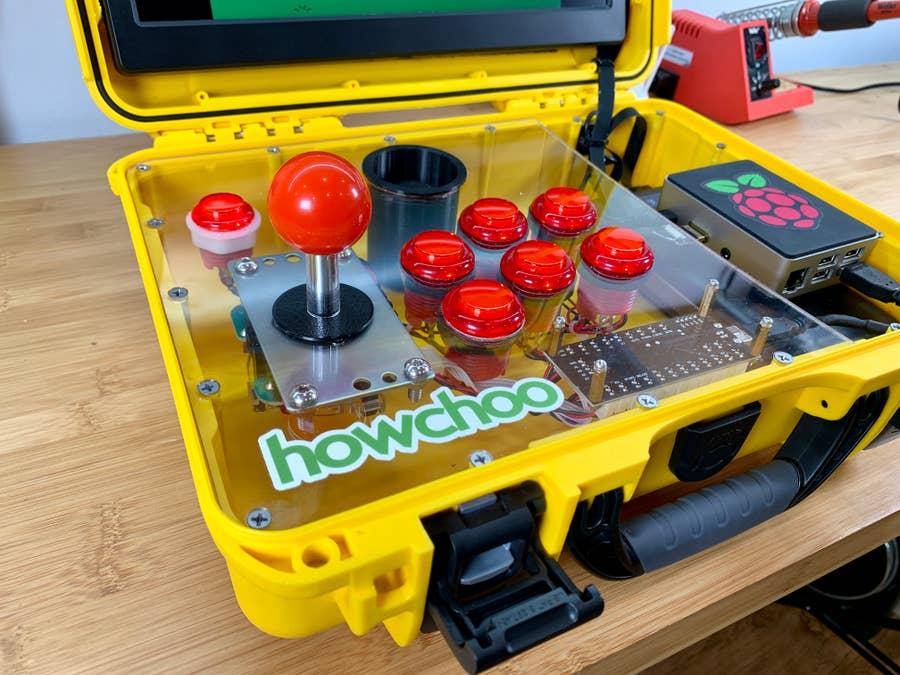 AdventurePi arcade insert close-up shot