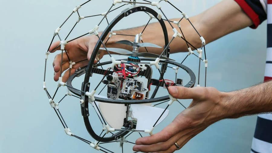 Flyability's GimBal drone for search and rescue