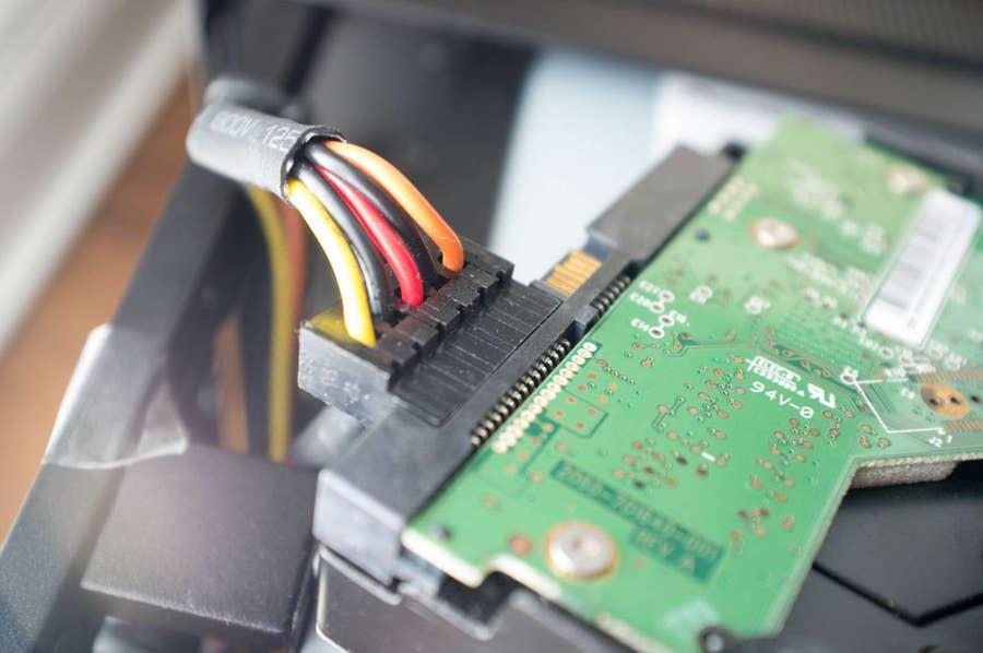 Plug in a case fan or a hard drive