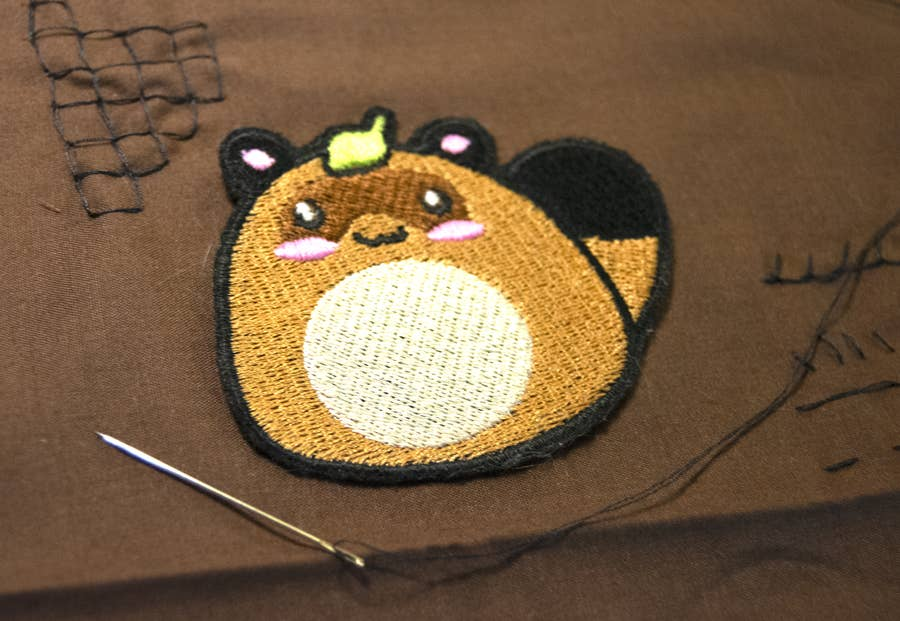 Sew patch with embroidery