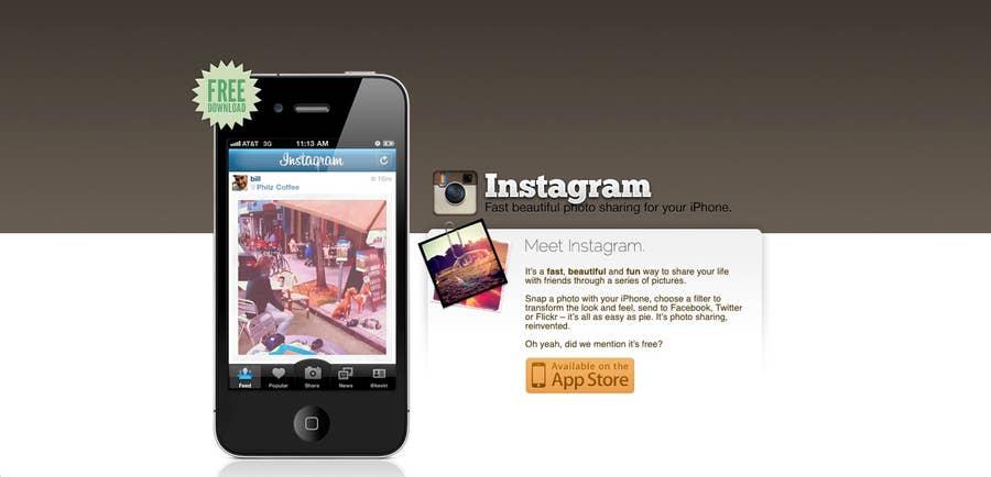 original instagram homepage