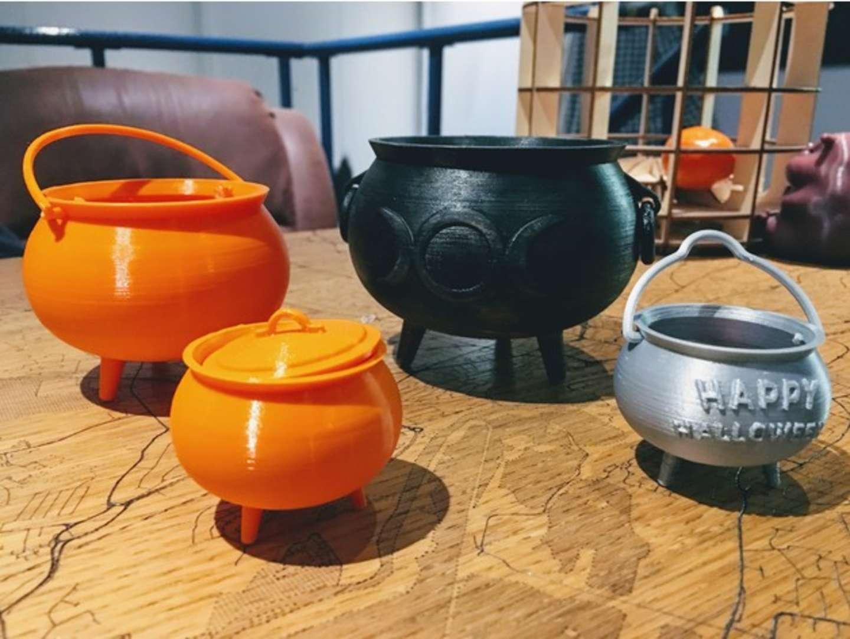 3D-printed cauldrons