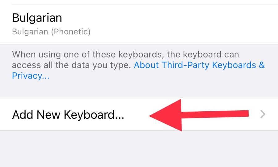 Add New Keyboard in iPhone