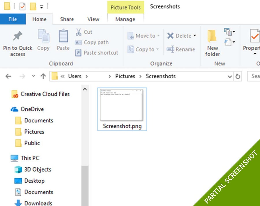partial windows 10 screenshot