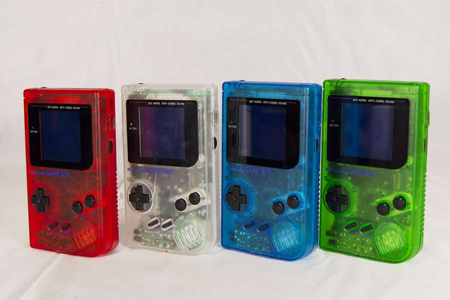 Clear color Game Boy shells