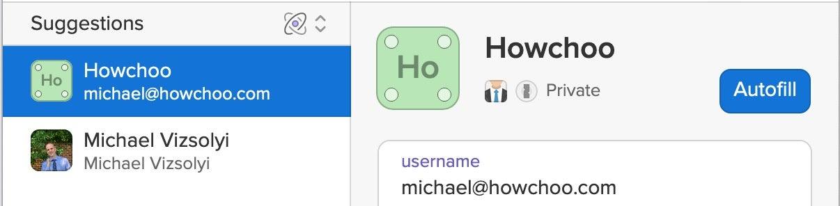 Howchoo on 1Password