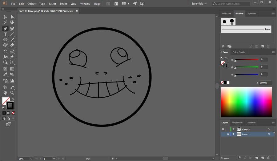 Delete Layer Illustrator
