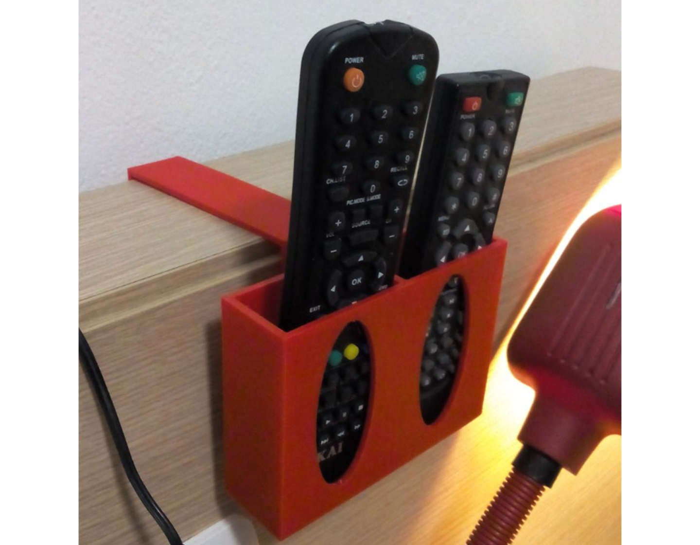 3D printed bedside TV remote holder
