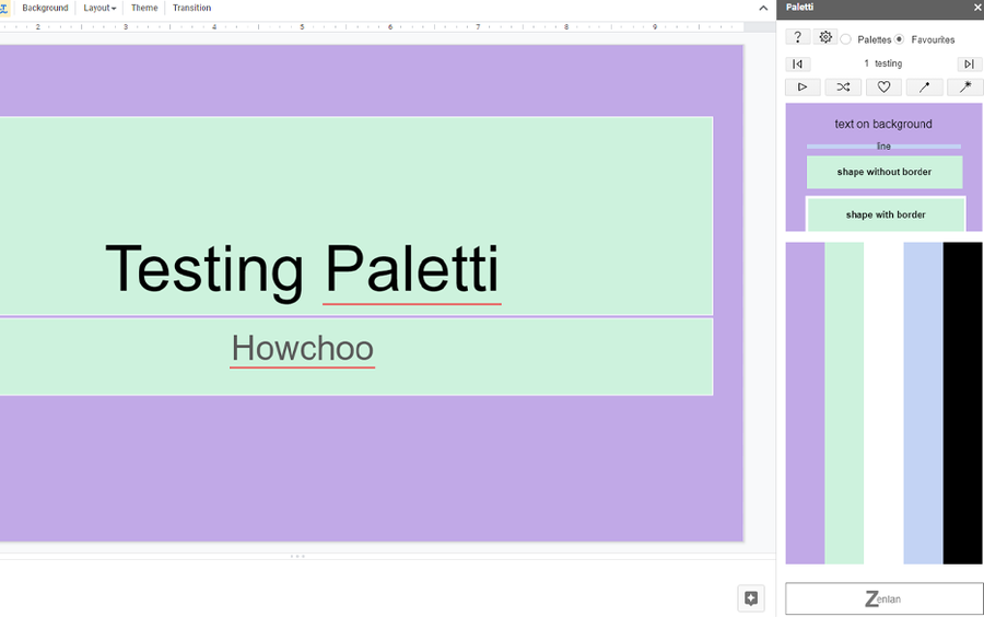 paletti google slides addon