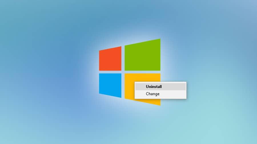 Uninstall programs on Windows 10