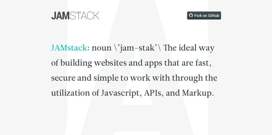 A written definition of Jamstack