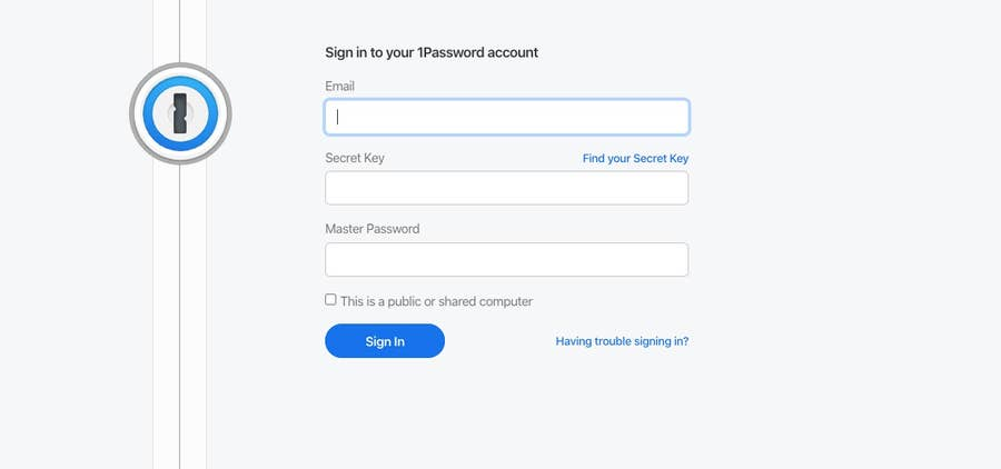 1Password Signin Chrome