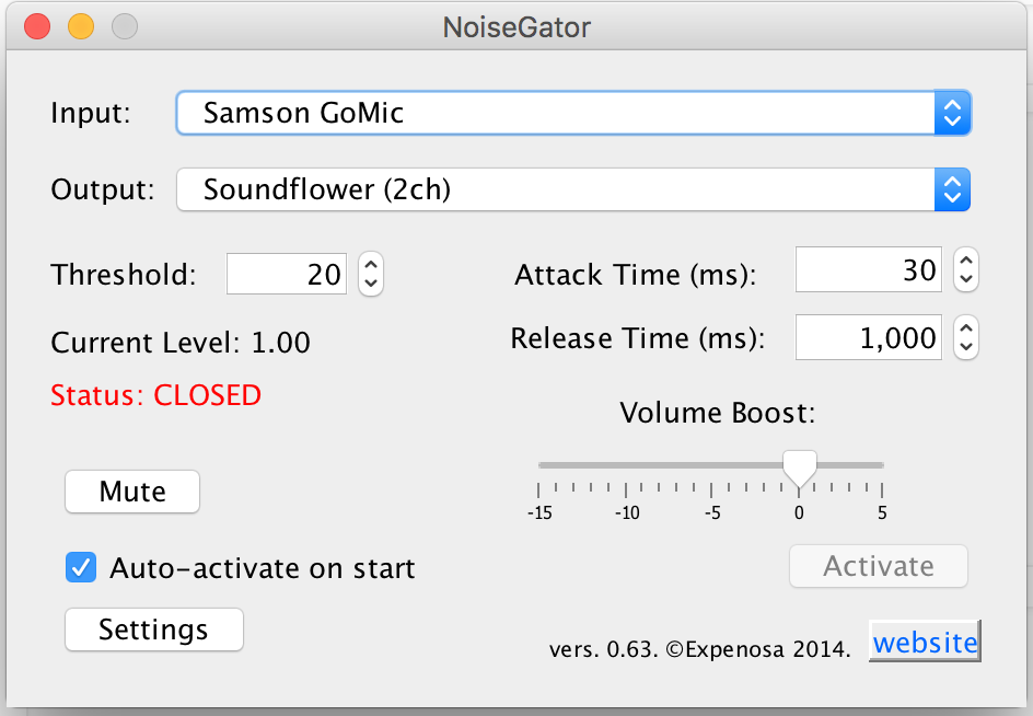 Configure NoiseGator