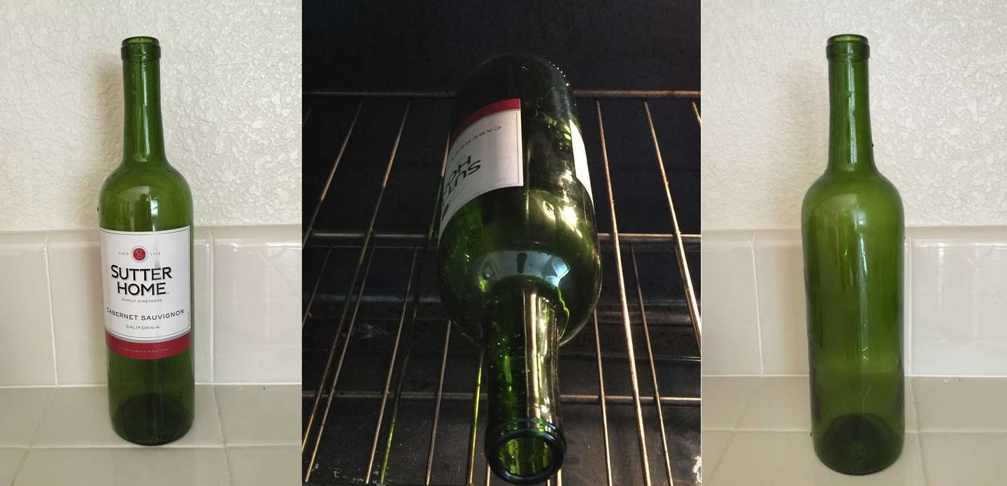 How to remove the label from a wine bottle the easy way
