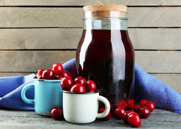 Cherry simple syrup.