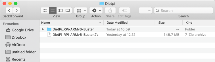 macOS Finder 7zip extract