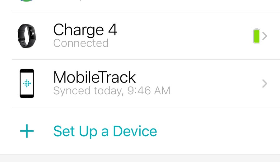 Set up a Device Fitbit App iPhone
