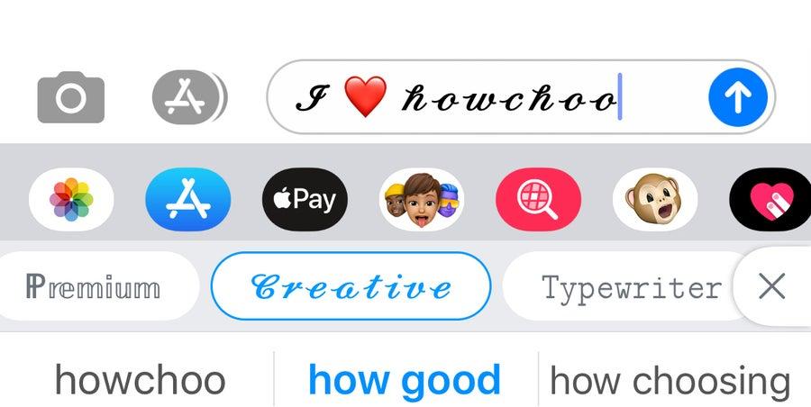 I heart howchoo iPhone message