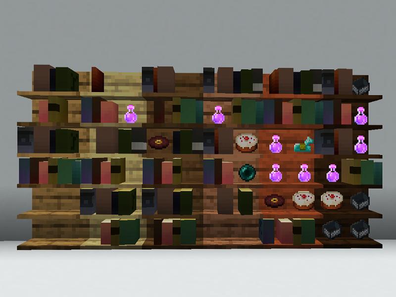 simple shelves minecraft mod