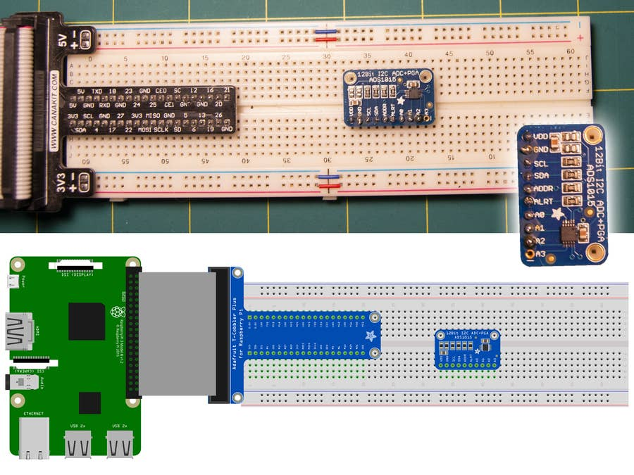 Prepare the ADC adapter chip