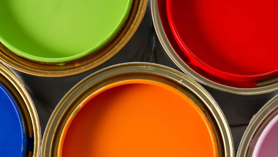 Types of paint.