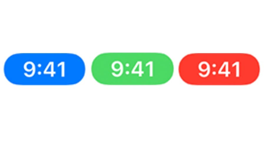 Status Bar (blue, green, or red)