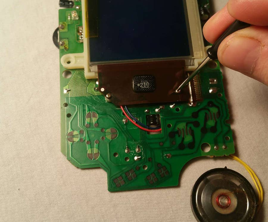 Screw the LCD into place