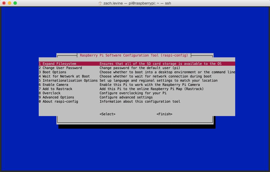 Expand filesystem
