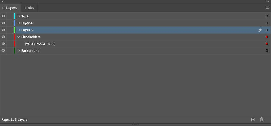 Layers Pane in InDesign