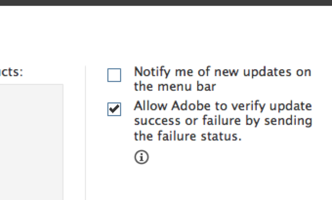 """Uncheck """"Notify me of new updates on the menu bar"""""""