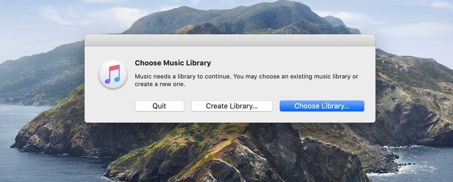 Choose Music Library Apple