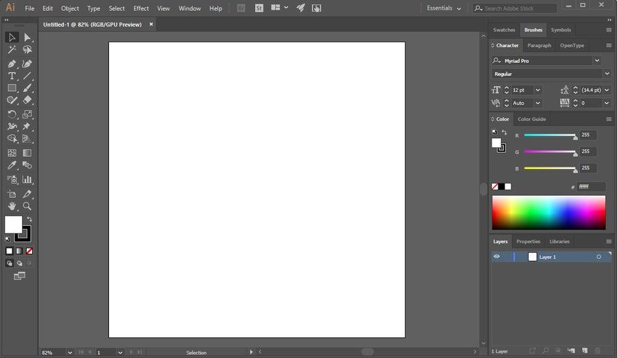 Adobe Illustrator Blank Canvas