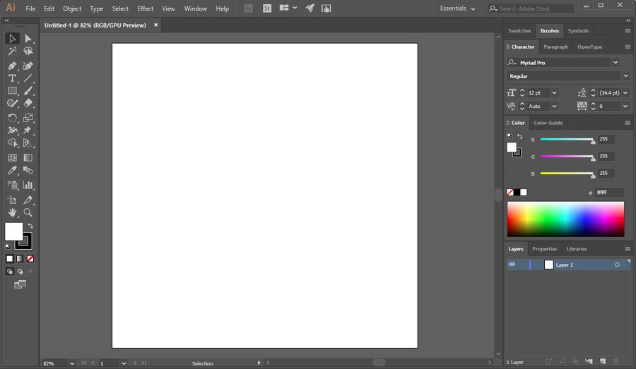 Adobe Illustrator Blank Canvas