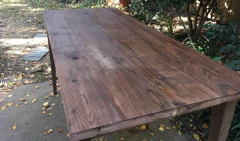 Danish oil wood finish on walnut