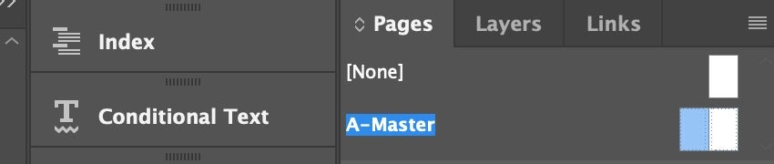 A-Master Page in InDesign