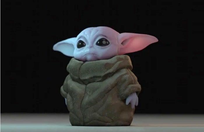 Sad 3D Printed Baby Yoda