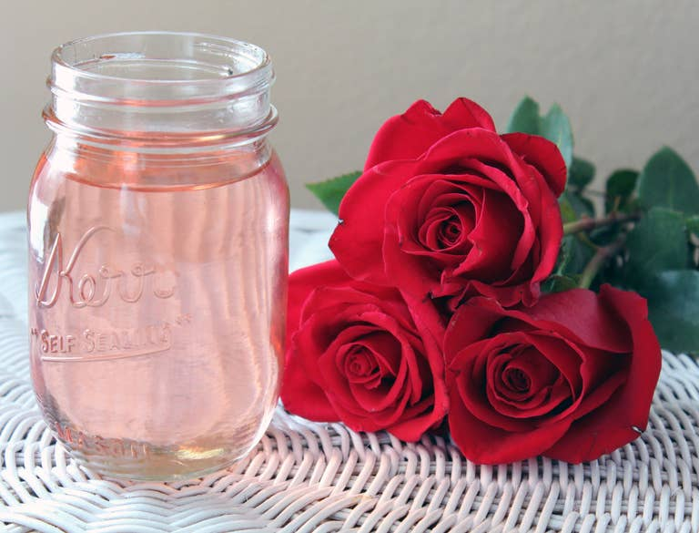 Rose simple syrup.
