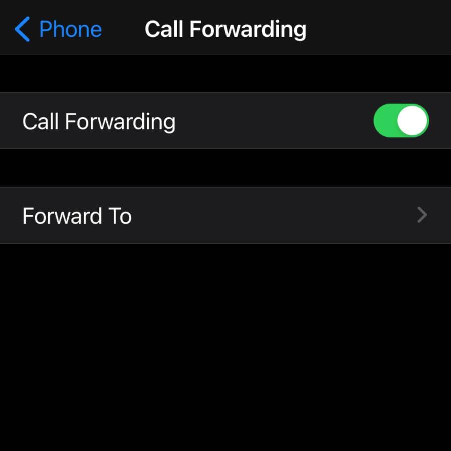 "Click ""Forward To"""