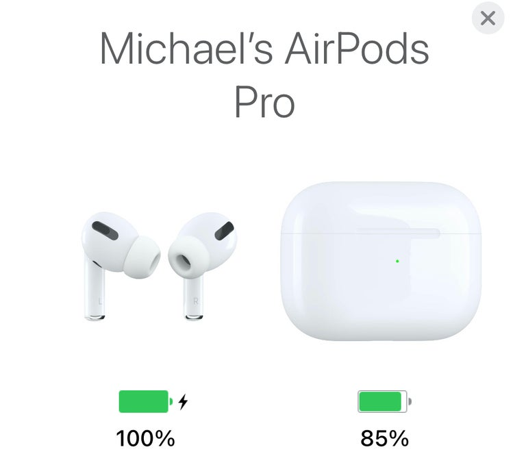 AirPods Pro Charge Levels