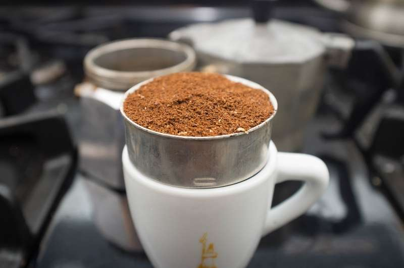 Grind your coffee and fill the filter
