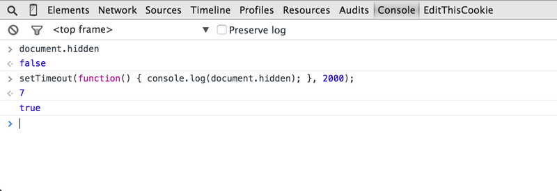 document.hidden