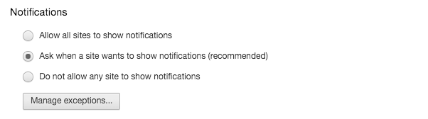 Scroll down to notifications