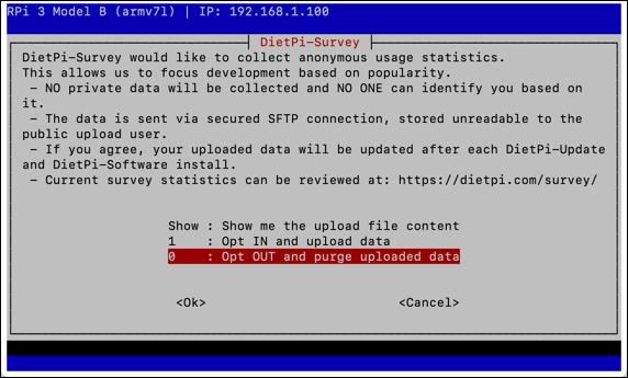 DietPi initial configuration