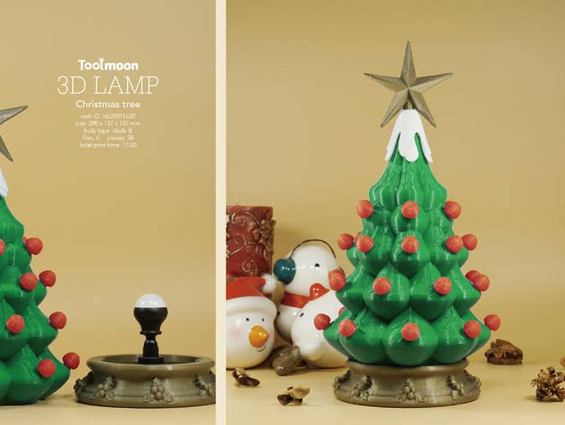Decorated Christmas Tree Lamp