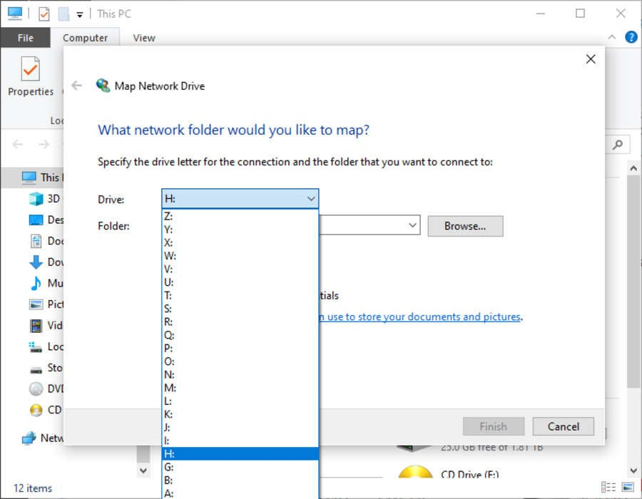 Windows 10 Network Drive Letter