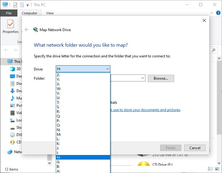 Windows 10 Network Drive Letter