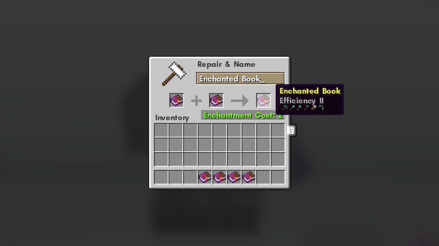 enchanted books enchantment cost minecraft