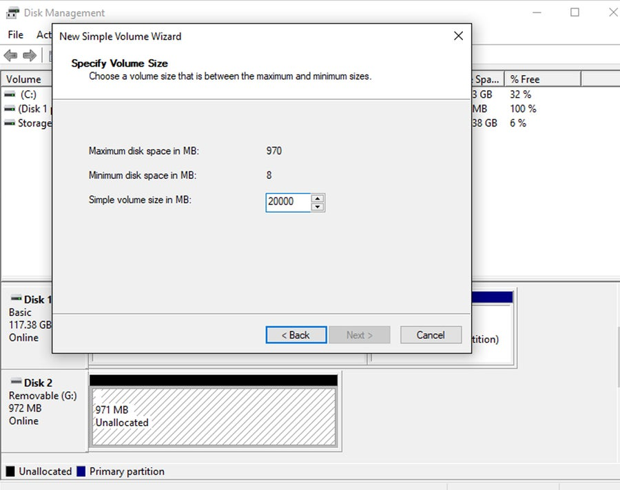 Hard drive partition Windows