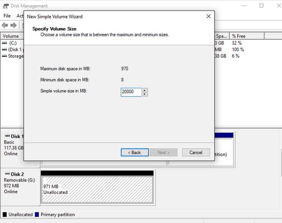 Hard drive partition Windows